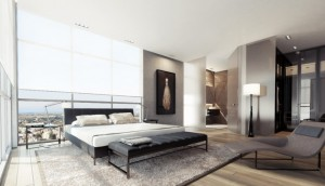 modern bed room interior concept